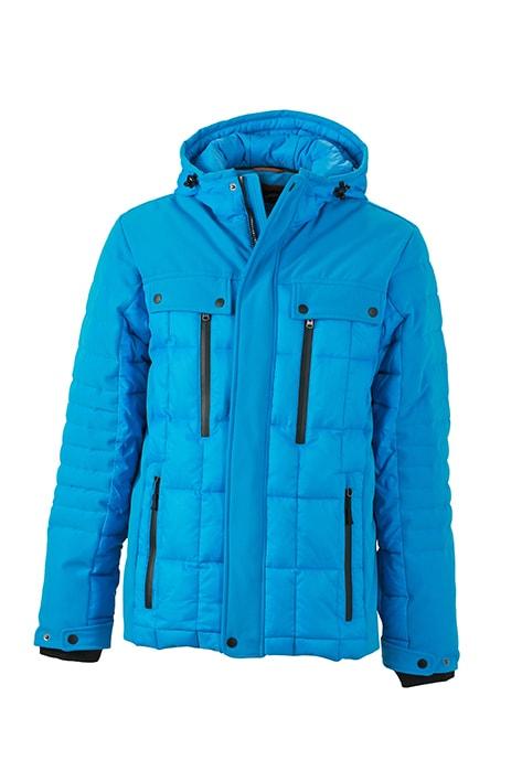 Sportovní pánská zimní bunda JN1102 - Aqua / černá | M