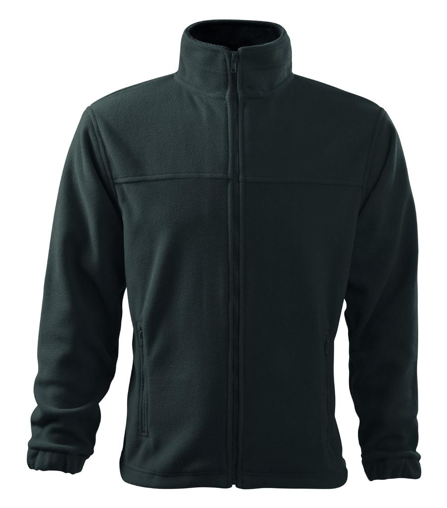 Pánská fleecová mikina Jacket - Ocelově šedá | L