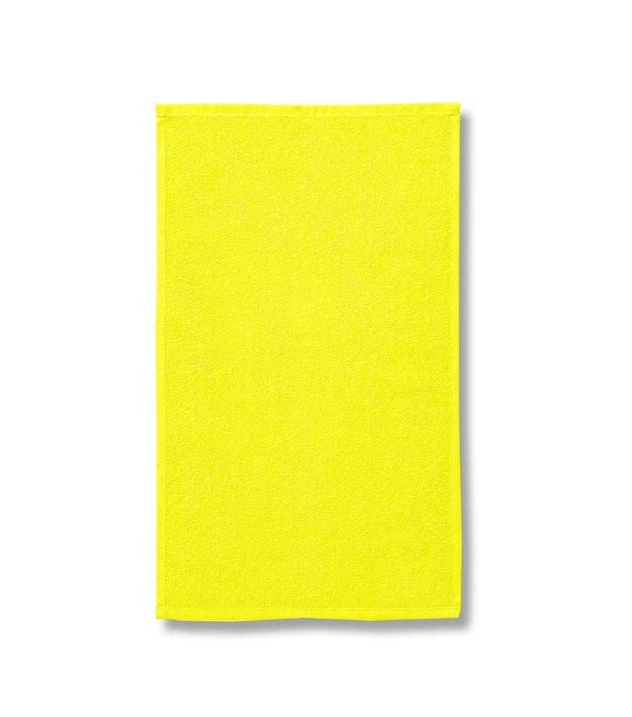 Ručník bez bordury Terry Towel - Citrónová | 50 x 100 cm