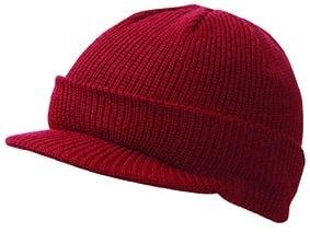 Zimní čepice s kšiltem MB7530 - Vínová | uni