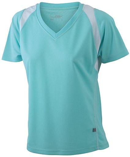 Dámské běžecké tričko s krátkým rukávem JN396 - Mátová / bílá   XXL