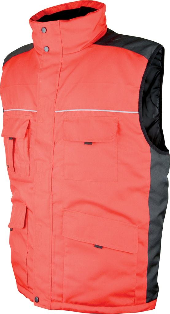 Zimní pracovní vesta Swen - Červená | XL