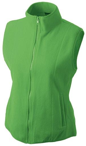 Dámská fleecová vesta JN048 - Limetkově zelená | XL