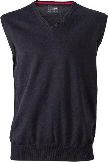 Pánský svetr bez rukávů JN657 - Černá | XXL