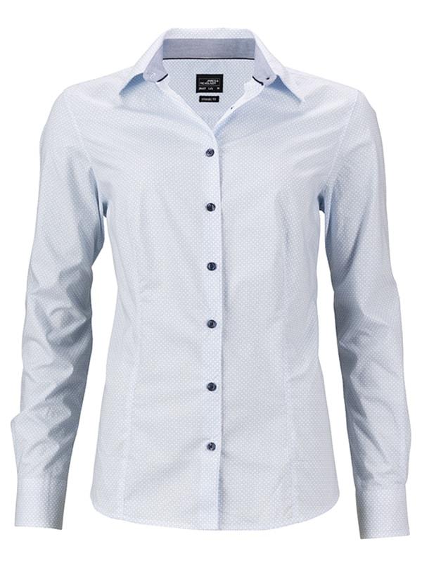 Dámská košile s dlouhým rukávem JN669 - DobrýTextil.cz cadb3d9d8f