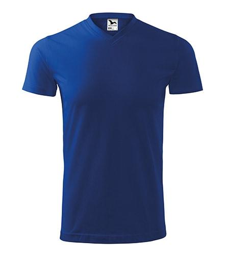 Tričko Heavy V-neck - Královská modrá | XXXL