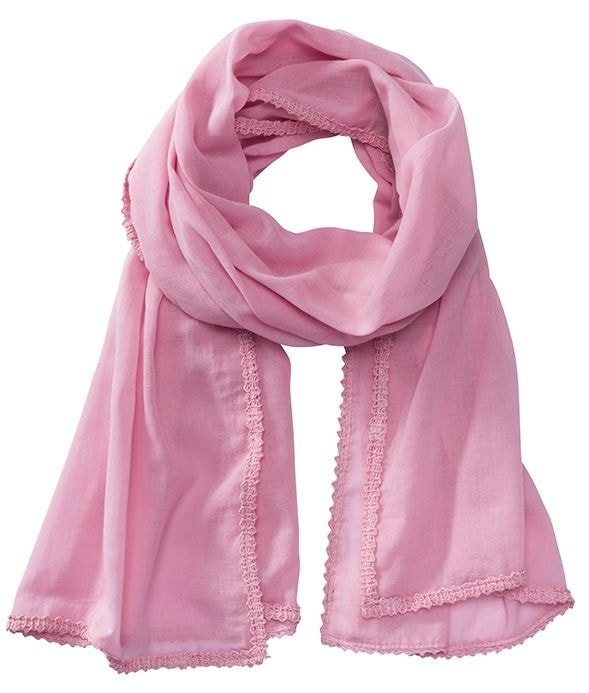Bavlněná šála MB6404 - Jemně růžová