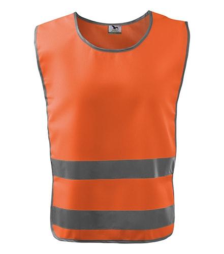 Bezpečnostní vesta Classic Safety Vest - Reflexní oranžová | XXL