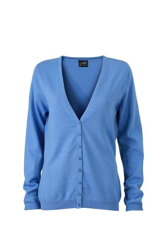 Dámský bavlněný svetr JN660 - Ledově modrá | M