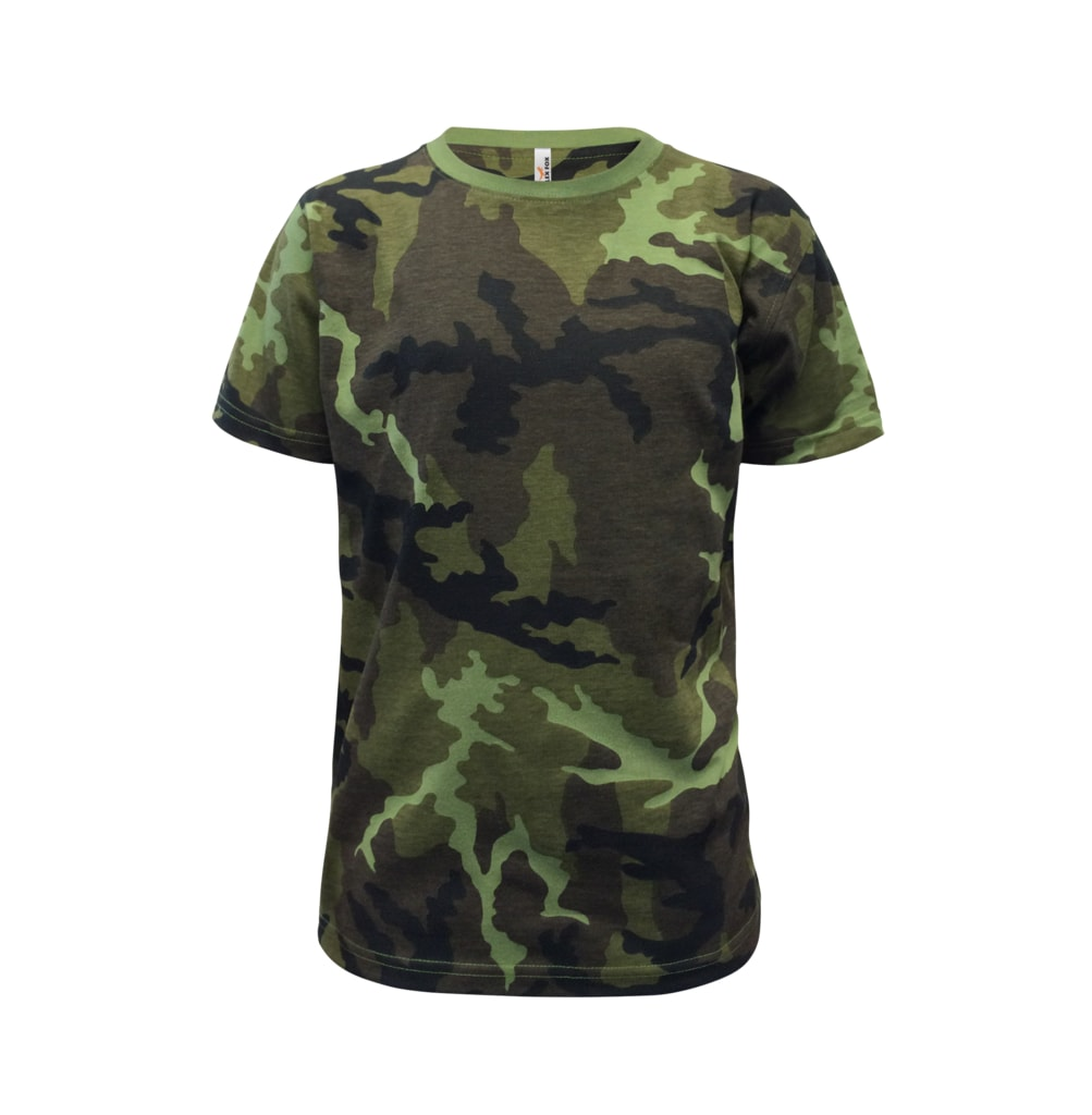 Alex Fox Detské maskáčové tričko - 146 cm / 10 let