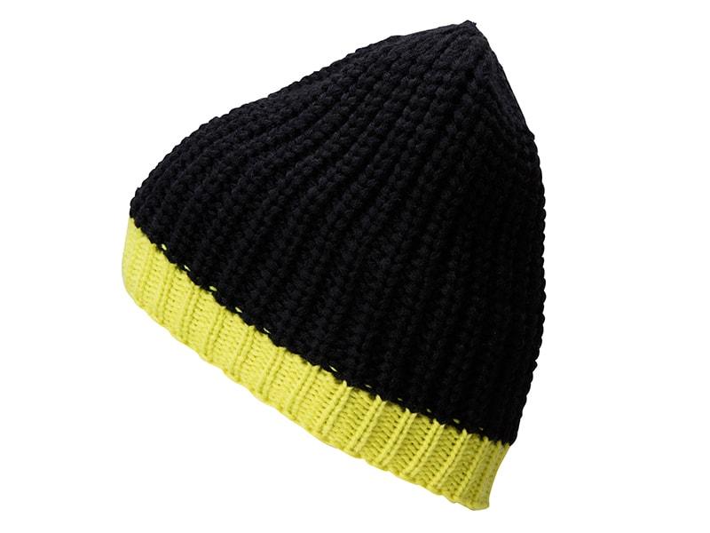 Zimní čepice MB7103 - Černá / žlutozelená