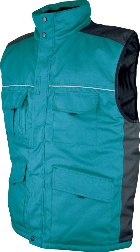 Zimní pracovní vesta Swen - Zelená | L