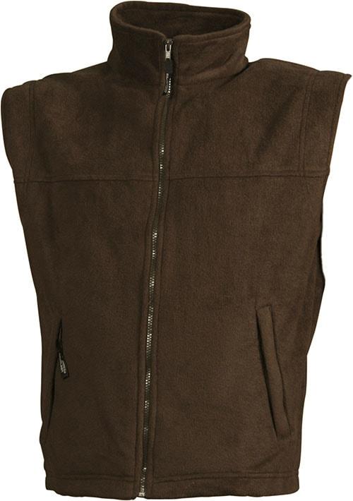 Pánská fleecová vesta JN045 - Hnědá | XXXL