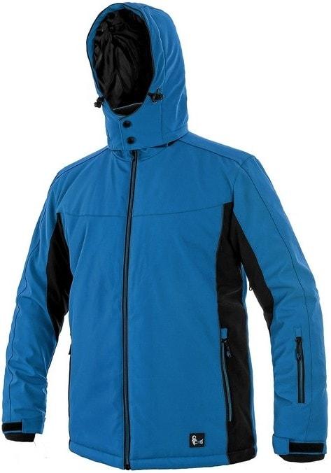 Pánská zateplená softshellová bunda VEGAS - Modrá / černá | XXXL
