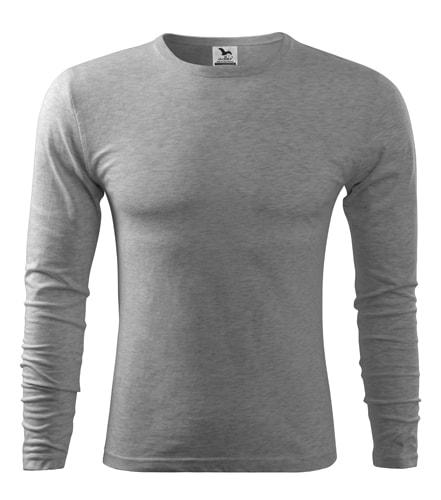 Pánské tričko s dlouhým rukávem Fit-T Long Sleeve - Tmavě šedý melír | XXL