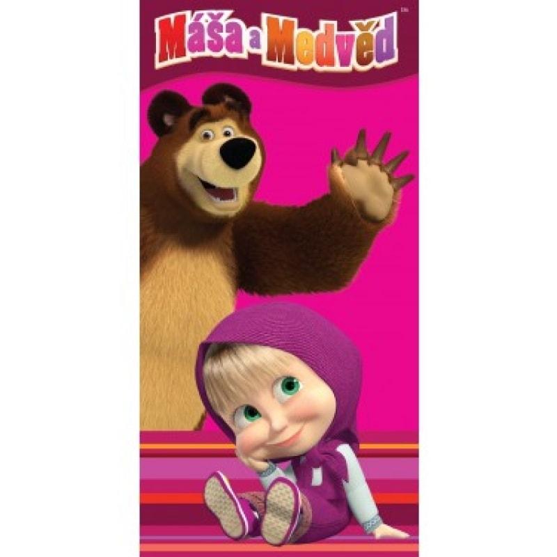 Dětská osuška Máša a medvěd - 70 x 140 cm