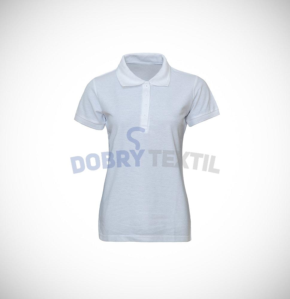 Pique dámská polokošile s kapsičkou - Bílá | L