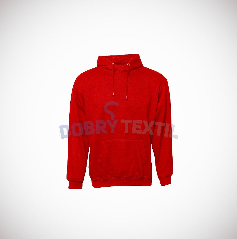 Mikina s kapucí klokanka - Červená | XL
