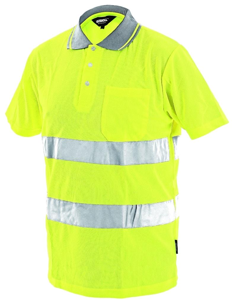 Reflexní polokošile DOVER - Žlutá | XL