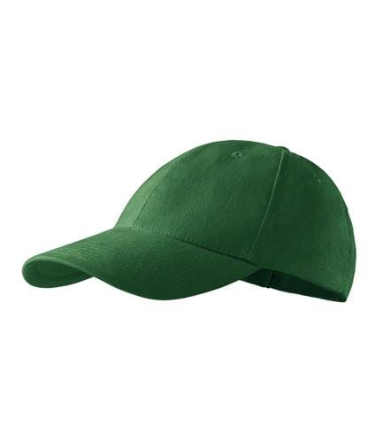 Kšiltovka Adler 6P - Lahvově zelená | uni