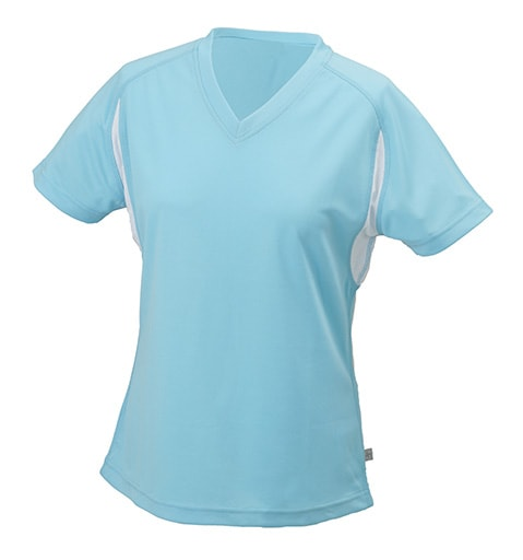 Dámské sportovní tričko s krátkým rukávem JN316 - Ocean / bílá | S