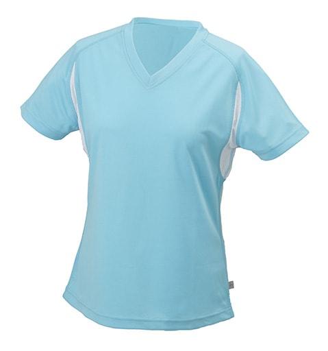 Dámské sportovní tričko s krátkým rukávem JN316 - Ocean / bílá | XL