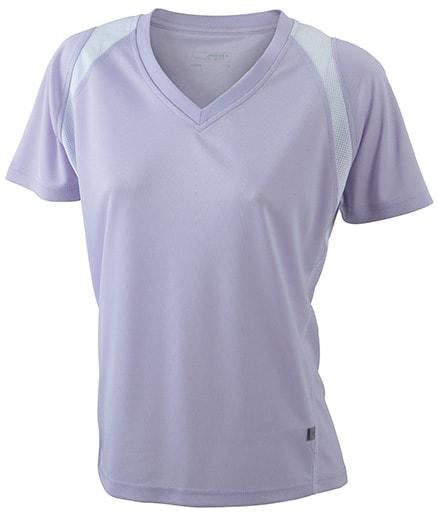 Dámské běžecké tričko s krátkým rukávem JN396 - Šeříková / bílá   XL