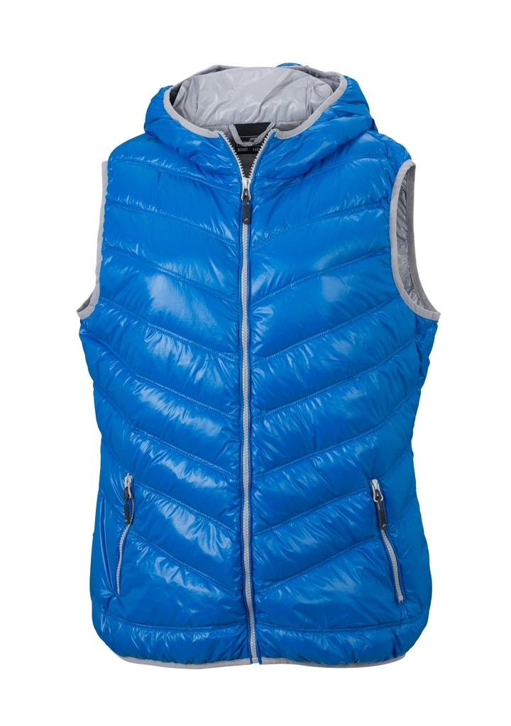 ... páperová vesta JN1061 Modrá   strieborná f5971420d29