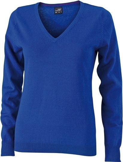 Dámský bavlněný svetr JN658 - Královská modrá | XXL