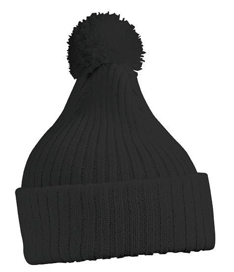 Myrtle Beach Pletená čiapka s brmbolcom MB7540 - Černá | uni