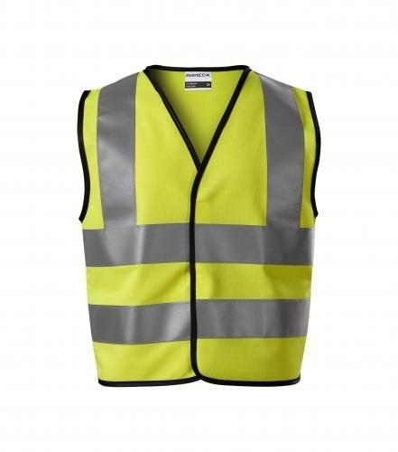 Dětská bezpečnostní vesta HV Bright - Reflexní žlutá | 6-8 let/116-140 cm