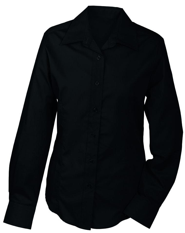 Dámská košile s dlouhým rukávem JN602 - Černá | XXL
