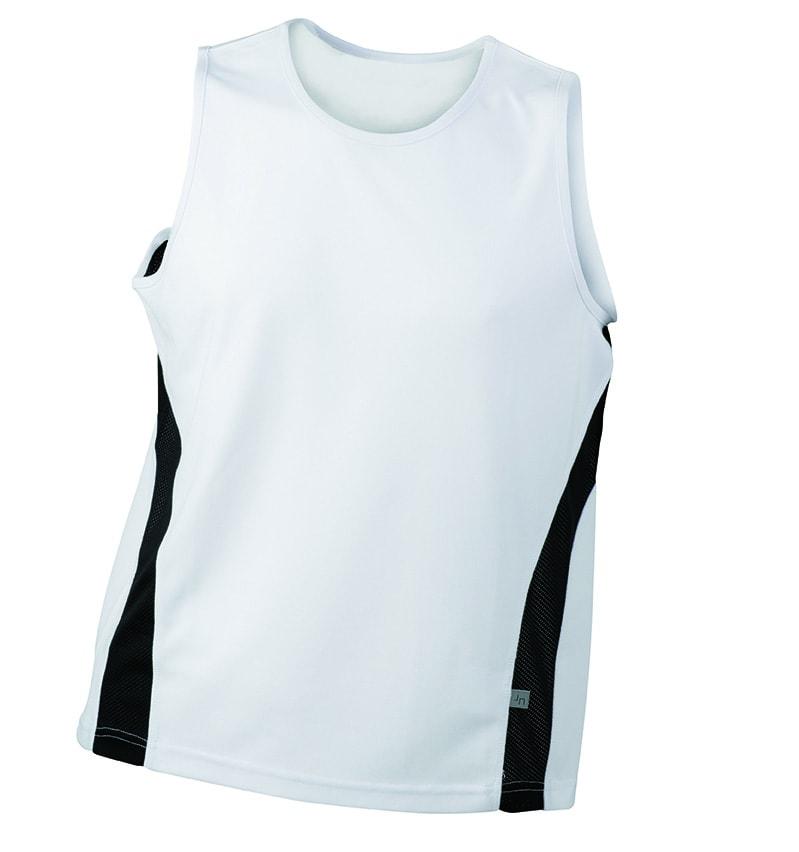 657d35252f0 ... sportovní tričko bez rukávů JN305 Bílá   černá