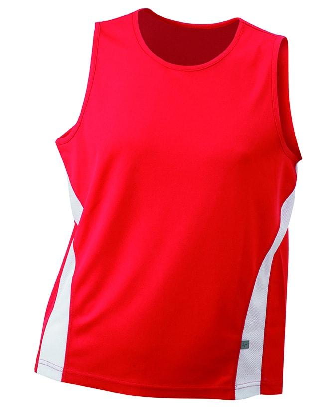 21814215d86 ... sportovní tričko bez rukávů JN305 Červená   bílá