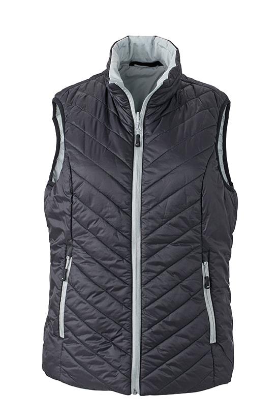 Lehká dámská oboustranná vesta JN1089 - Černá / stříbrná   XXL