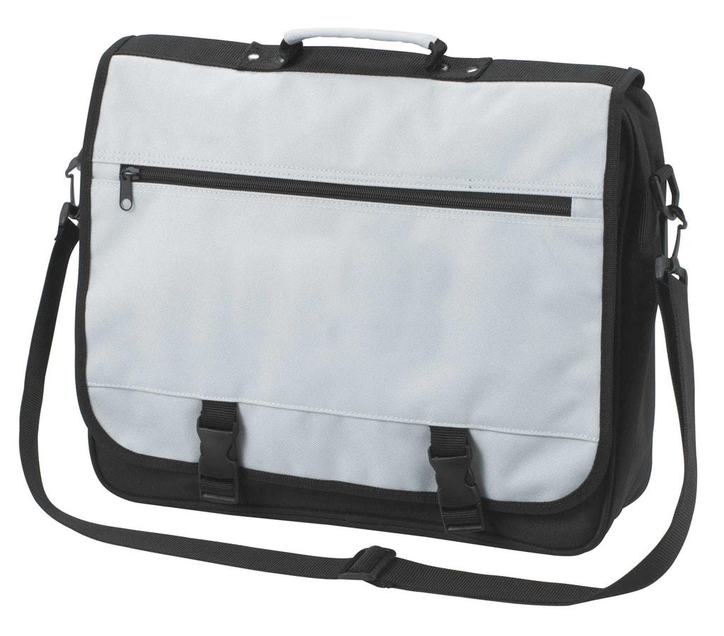 Velká taška přes rameno BUSINESS - Světle šedá