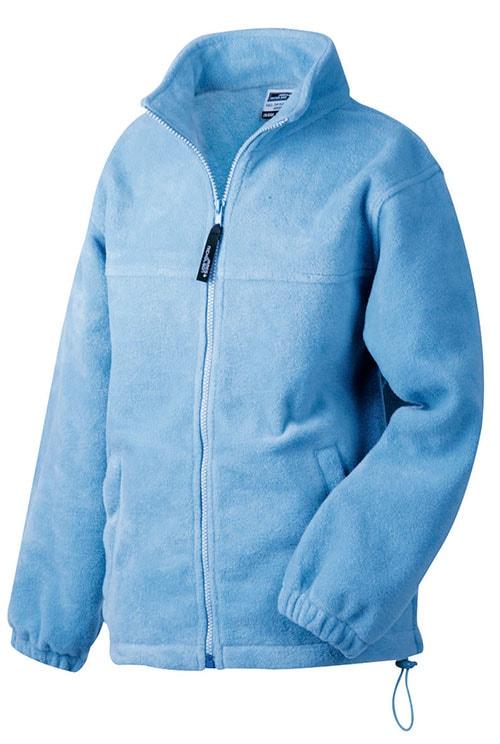 Dětská fleece mikina JN044k - Světle modrá   M