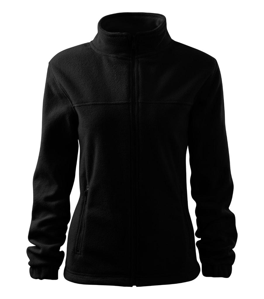 Dámská fleecová mikina Jacket - Černá | XL