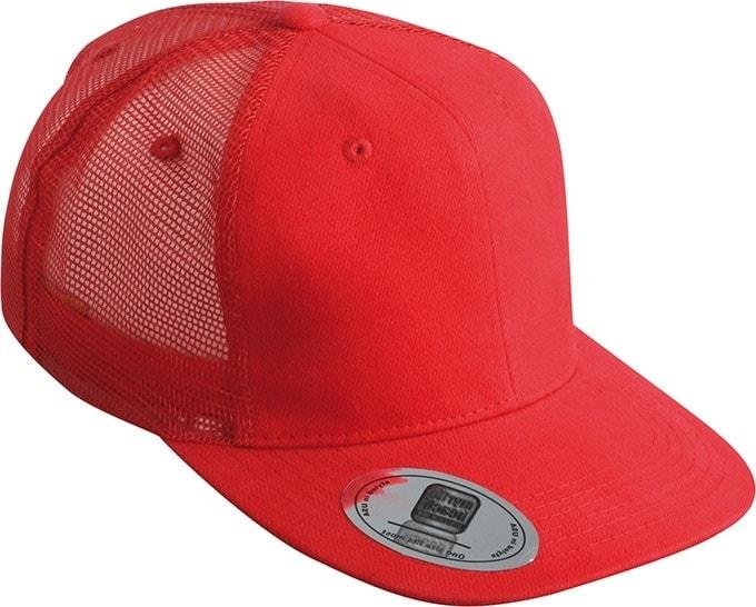 Kšiltovka s rovným kšiltem MB6509 - Červená | uni