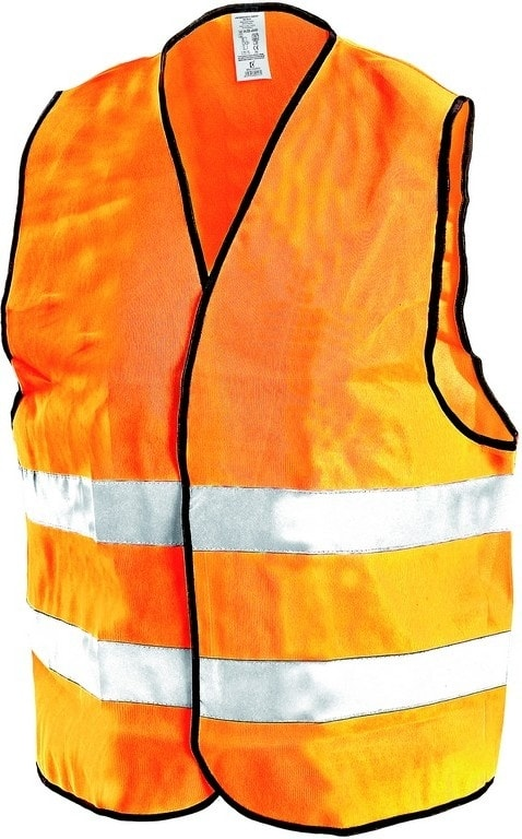 Reflexní vesta GUSTAV - Oranžová   S/M