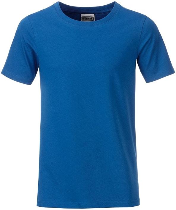 Klasické chlapecké tričko z biobavlny 8008B - Královská modrá | M