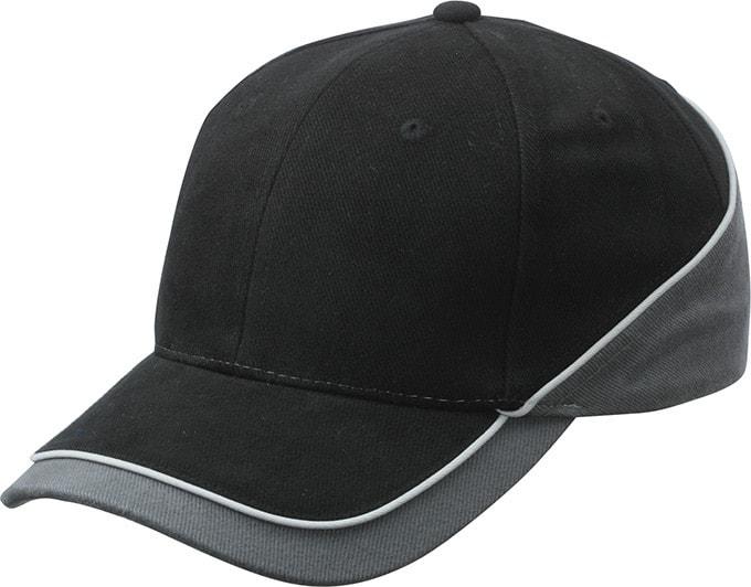 Dvoubarevná kšiltovka MB6506 - Černá / tmavě šedá / světle šedá | uni