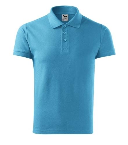 Pánská polokošile Cotton - Tyrkysová   XL