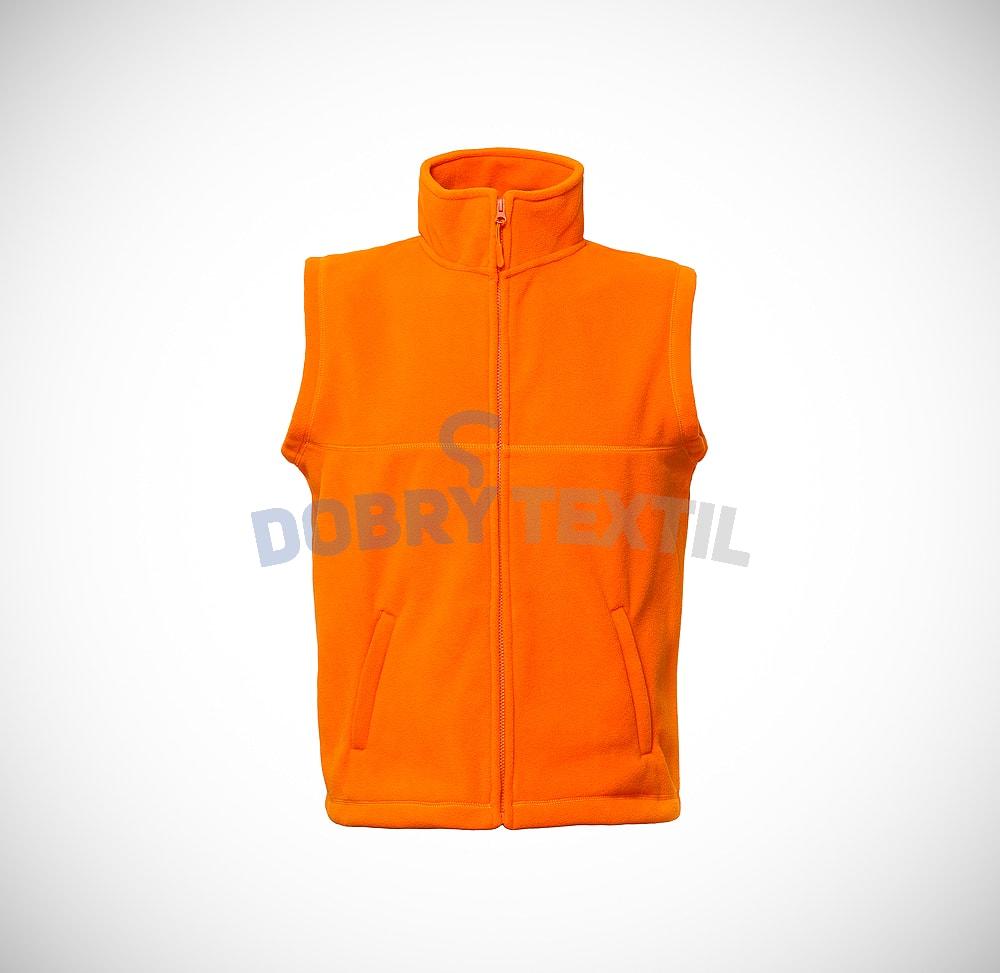 Fleecová vesta - Oranžová | XXXL