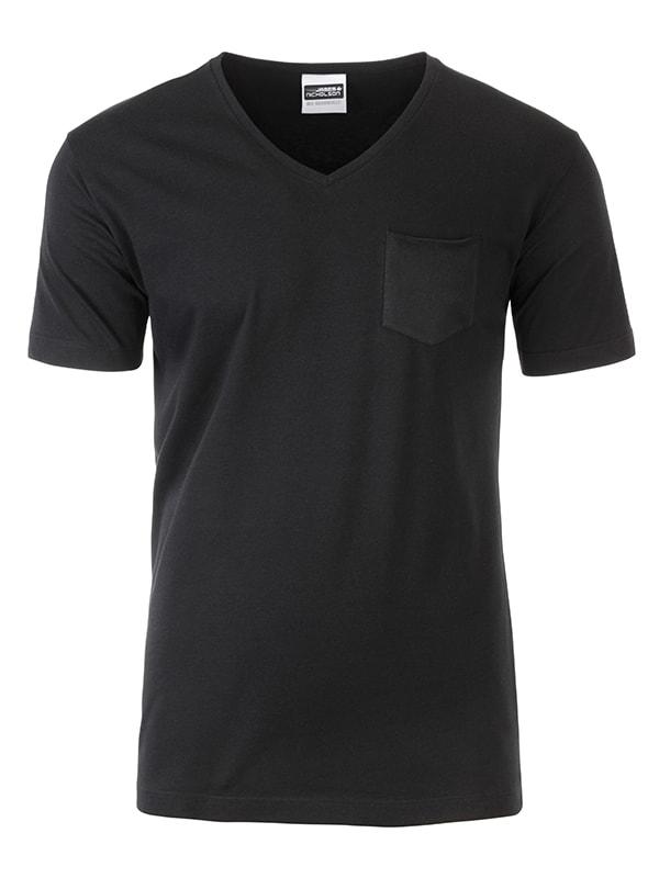 Pánské tričko z biobavlny 8004 - Černá | M