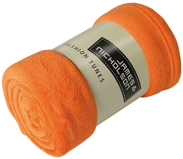 Fleecová deka 160x120 cm JN951 - Oranžová | 160 x 120 cm
