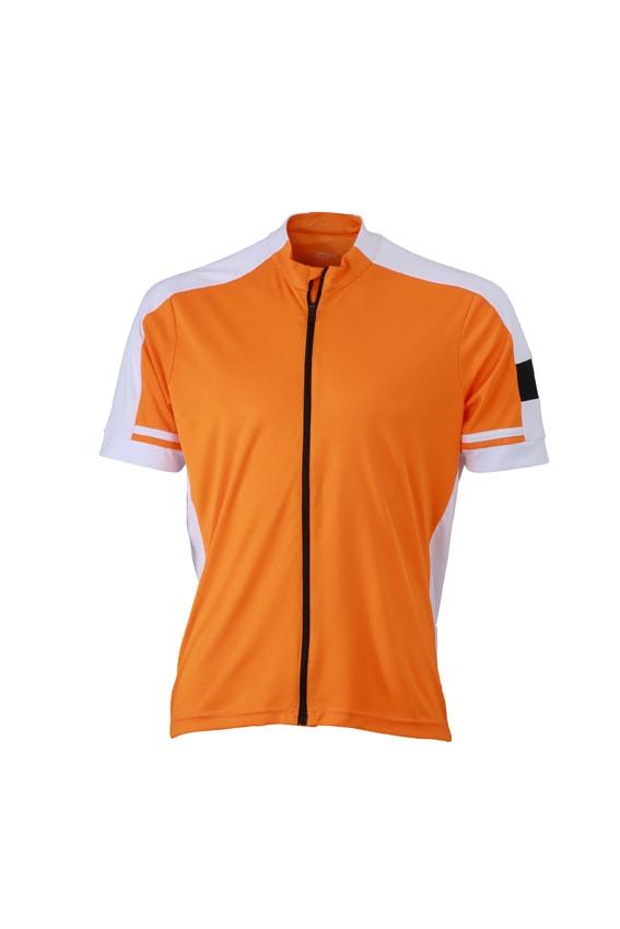 Pánský cyklistický dres JN454 - Oranžová | S