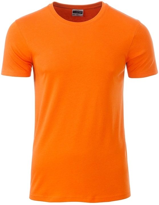 Klasické pánské tričko z biobavlny 8008 - Oranžová | M