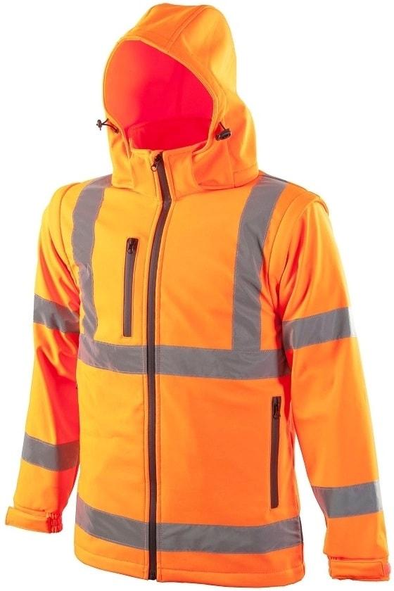 Reflexní softshellová bunda - Oranžová | XL