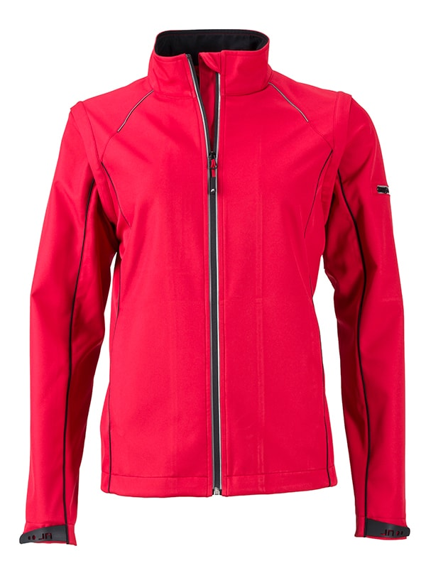 Dámská softshellová bunda 2v1 JN1121 - Červená / černá   M
